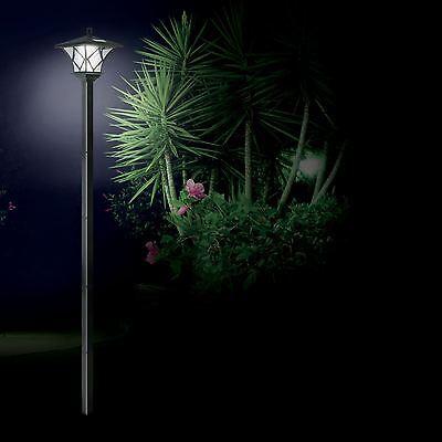 Solar Powered Lamp Post Light Outdoor Garden 1.5M Path Way Landscape Fence Lamp