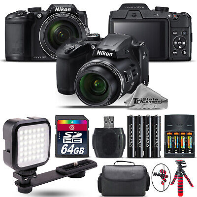 Nikon COOLPIX B500 Digital Camera 40x Optical Zoom + LED + Case -64GB Kit Bundle