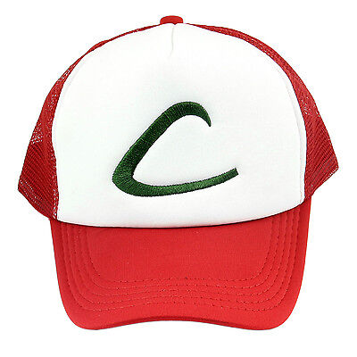 Cap Hat Anime Cosplay Cartoon Pocket Monster Ash Ketchum Baseball Trainer Gift