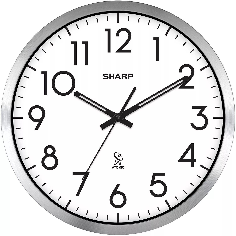 analog atomic wall clock 14 diameter