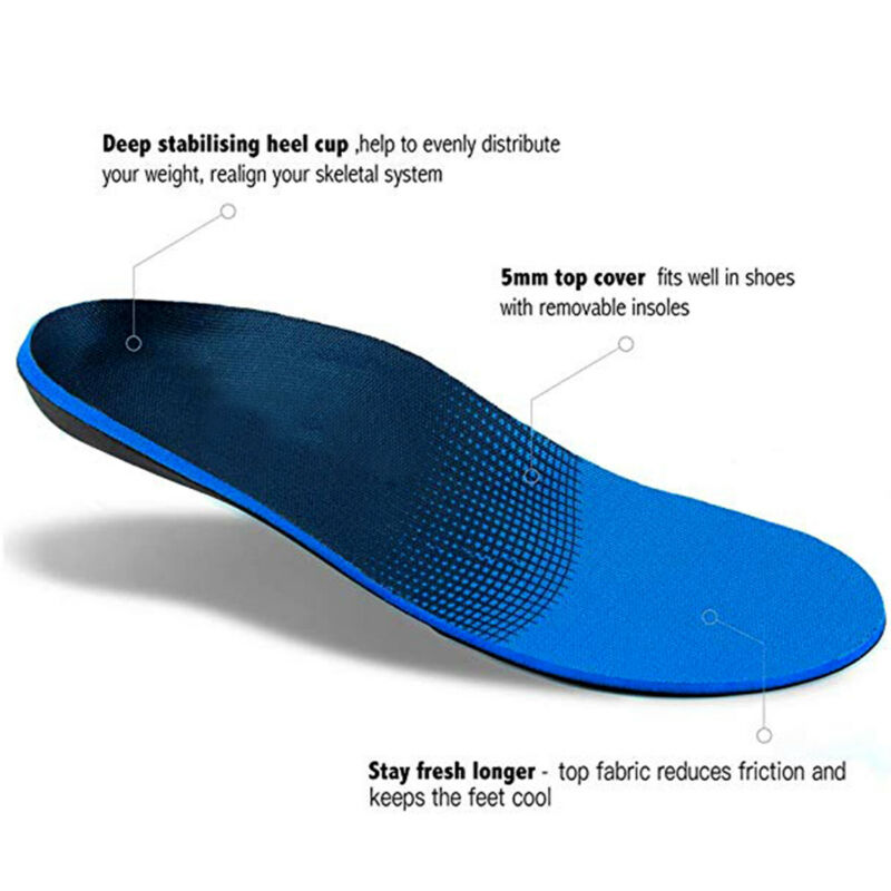Orthotic Insoles Plantar Fasciitis Arch Support Flat Foot Inserts L
