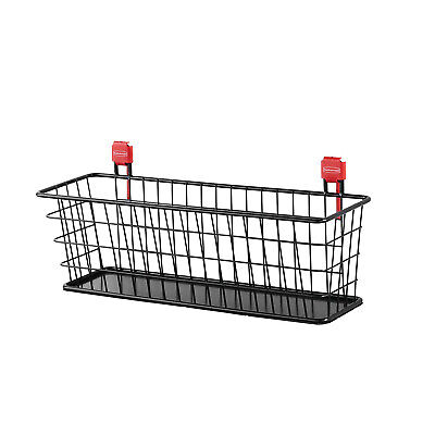 Rubbermaid 2024656 Wall Mounted Storage Shed Small Wire Basket Organizer