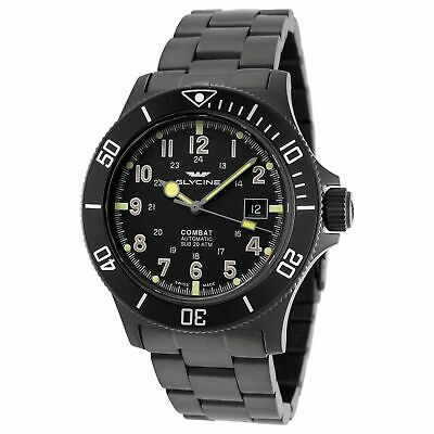 Glycine GL0079 Men's Combat Sub Black Automatic Watch