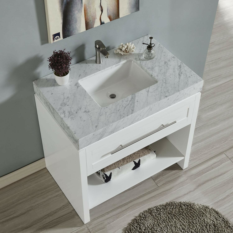 Carrara White Marble Stone Countertop