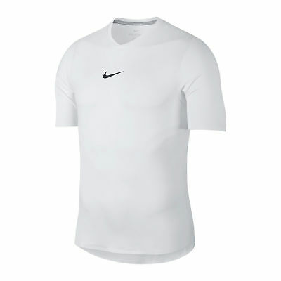 a14f539fd62  100 NEW Men s Nike Court Aero React Rafa Nadal White Tennis Shirt 888206 XL