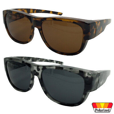Womens POLARIZED Cover Put Over Sunglasses Wear Rx Glass Fit Driving (Woman Wearing Sunglasses)