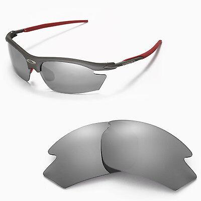 Walleva Polarized Titanium Replacement Lenses For Rudy Project Rydon (Rudy Rydon Sunglasses)