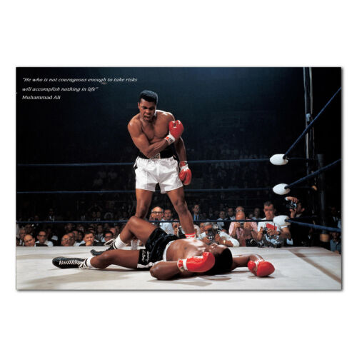 Muhammad Ali Inspirational Poster - Boxing Motivational Art - High Quality