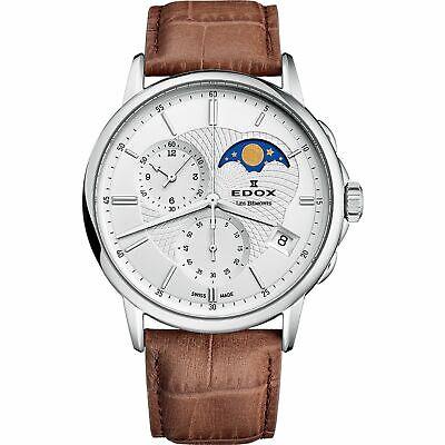 Edox 01651 3 AIN Men's Les Bemonts Silver Quartz Watch