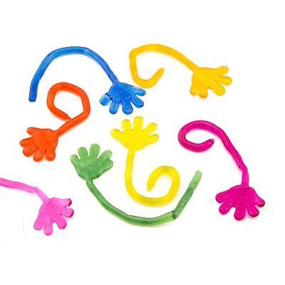 Sticky Toys (72 Vinyl Sticky Hands Party Favor Toys Novelties Prizes Gift Goodie)