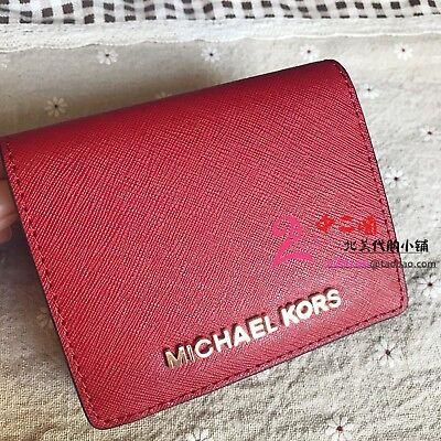 Michael Kors Jet Set Travel Saffiano Leather Flap Card Holder Wallet