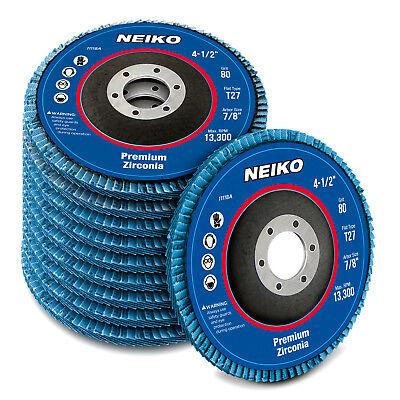 Neiko 10pc 4-12 Zirconia Flap Disc Grinding Sanding 40 Grit T27