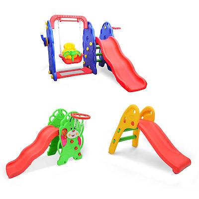 Homcom Kinderrutsche Rutsche Spielzeug Babyrutsche Gartenrutsche Schaukel 3Typen