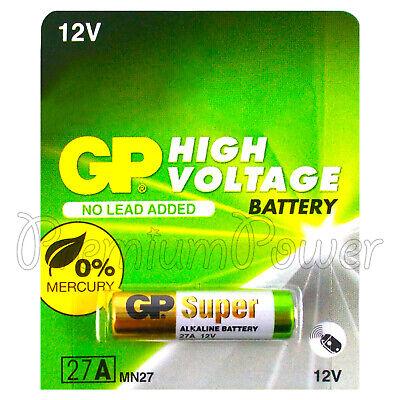 1 X Gp 27A Alkaline Super Akku 12V MN27 A27 GP27A E27A EL812 L828 Alarme Batterien 27a 12v Alarm