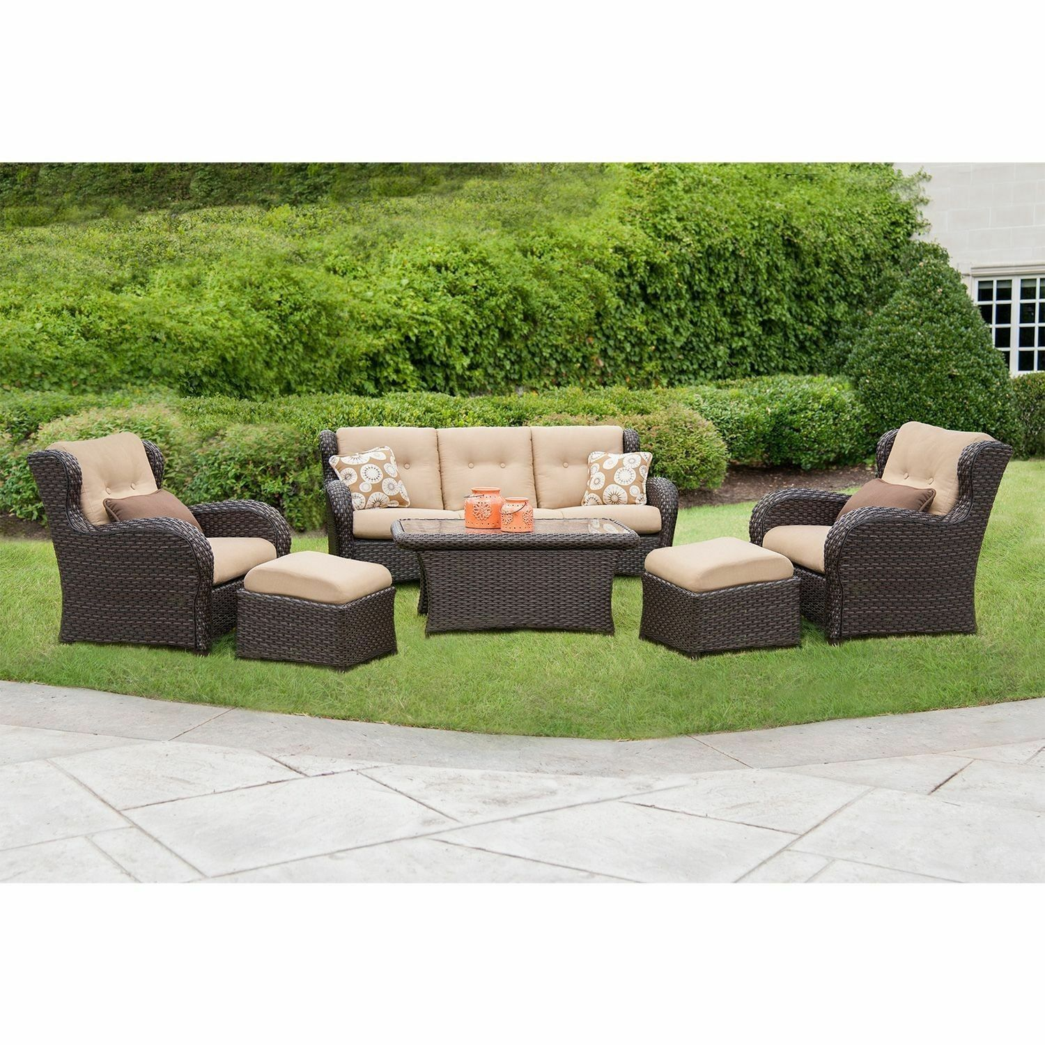 Hanover Strathmere 6 Piece Patio Seating Set   Top 7 Furniture Patio Sets  EBay