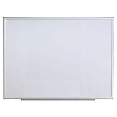 Universal One Dry Erase Board Melamine 48 x 36 Aluminum Frame 44636