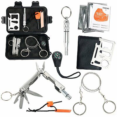 SOS Help Outdoor Camping Hiking Survival Emergency Gear Tools Box Kit Set Canada