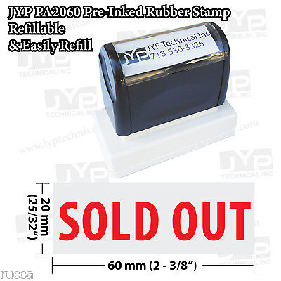 New Jyp Pa2060 Pre-inked Rubber Stamp With Sold Out