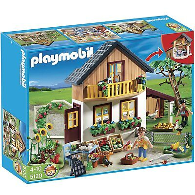 NEW HTF Playmobil 5120 FARM HOUSE & MARKET! Dollhouse, Critters, Veggie & more!