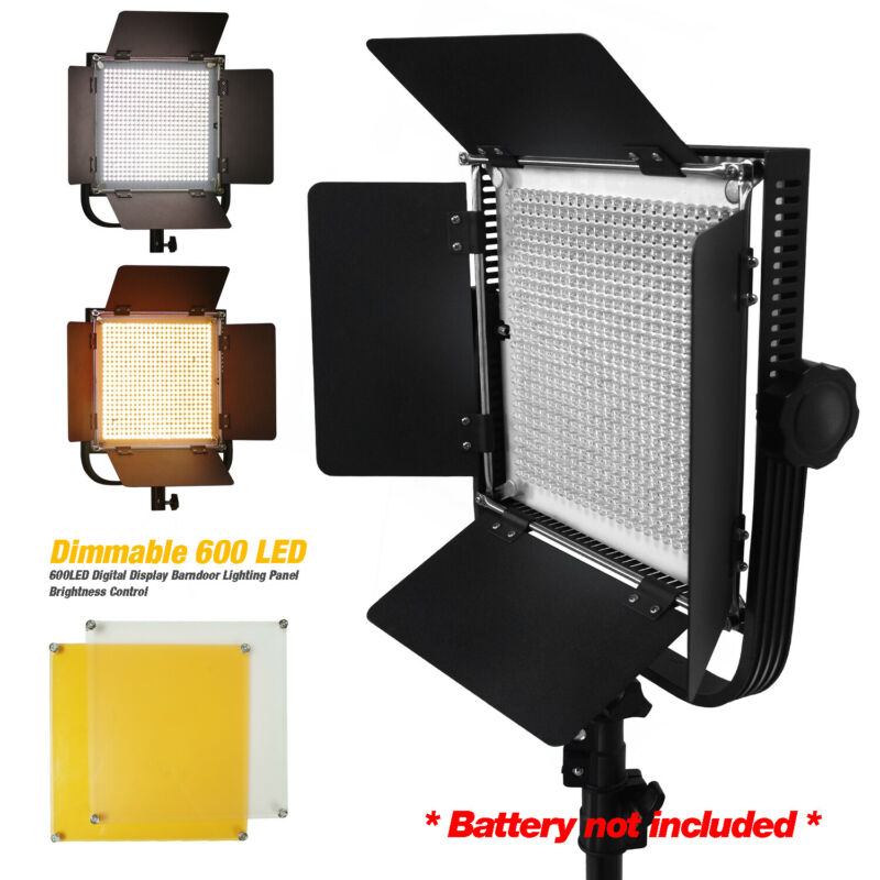 Dimmable 600 LED Photo Lighting Panel kit for Photography Photo Video Studio