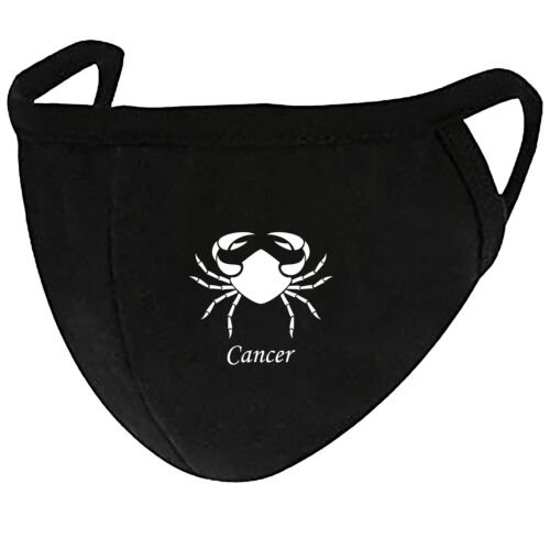 Zodiac Cancer - Face Mask Cover Fashion 2 Layers + Pocket Custom Made in US
