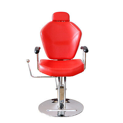 New Hydraulic Recline Barber Chair For Salon Hair Styling Beauty Spa Shampoo Red