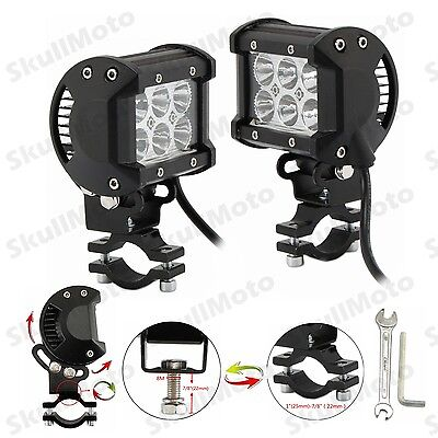 Adjustable Motorcycle18W CREE LED Driving Fog Spot Spotlight Lamp Light For BMW