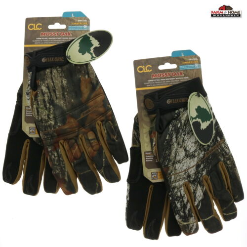 2 Pairs Mossy Oak Camo Work Gloves Large ~ New