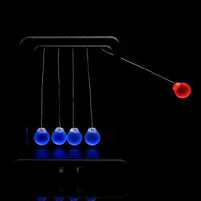 Pendulum Led Light Up Newtons Cradle Pendulum Balance Balls Office Decoration