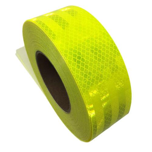 "3M 983-23 FLUORESCENT YELLOW-GREEN DIAMOND GRADE REFLECTIVE TAPE, 2"" x 6' ROLL"