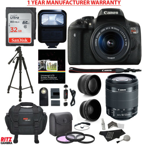 Canon EOS Rebel T6i DSLR Camera EF-S 18-55mm IS STM Lens with Accessory Bundle