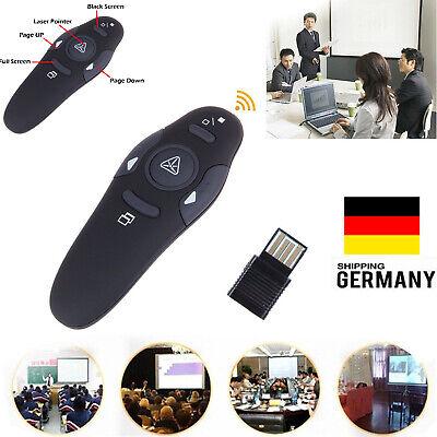 2,4 GHZ Drahtlos USB Powerpoint PPT Moderator Fernbedienung Laserpointer Pen Neu