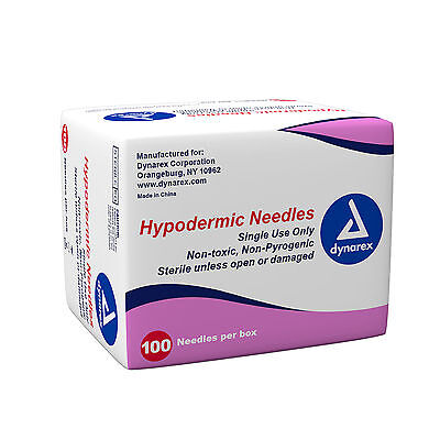 Dynarex Hypodermic Needles Box Of 100 22g X 1 12 6969