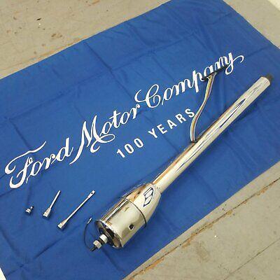 1955 - 1969 Ford fairlane 32 Chrome Tilt Steering Column No Key Floor Shift