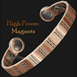 Healing Copper Magnetic Bracelet by Powerful Neodymium Magnets..