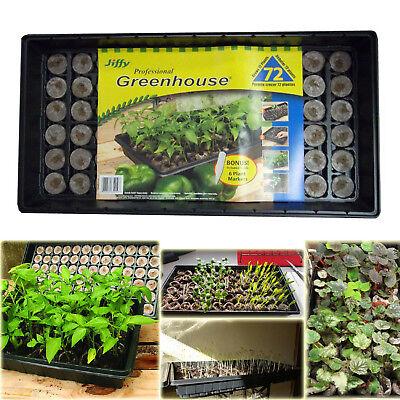 SEED STARTER KIT JIFFY SEEDLING Tray 72 Peat Pellet Greenhouse Propagation (Planting Tray)
