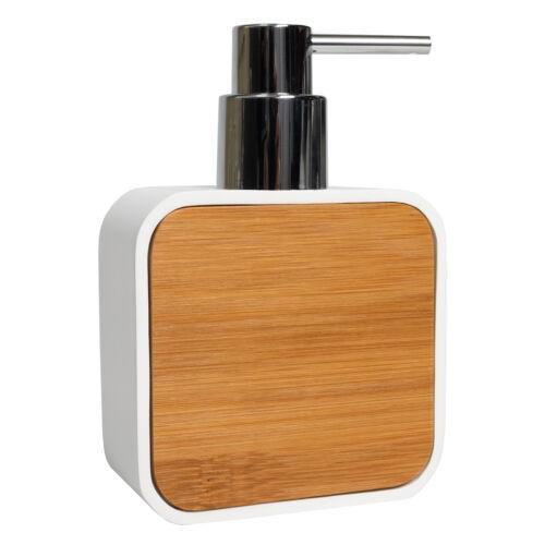 Ritz Bath Accessory Collection Poly Resin, Bamboo Bathroom Lotion/Soap Dispenser Bath