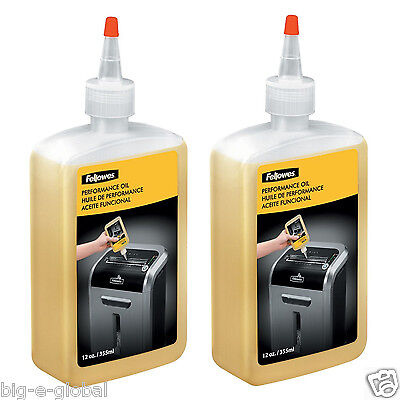 2 Pk - Fellowes Paper Shredder Oil 12 Oz. Bottle Wextension Nozzle Lubricant