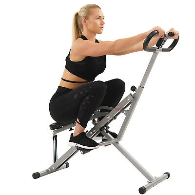Sunny Health & Fitness Upright Squat Assist Row-N-Ride