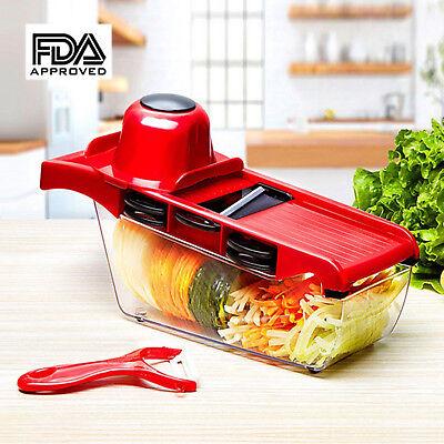 Vegetable Mandoline Slicer Fruit Cheese Grater Food Shredder Chopper 6