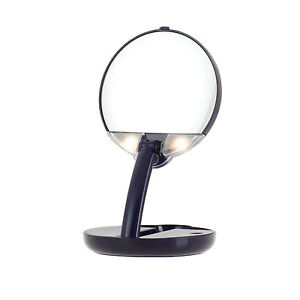 LED Illuminated 15X Magnifying Bathroom Vanity Make Up Shaving Travel Mirror