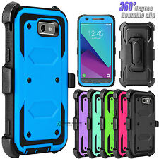 For Samsung Galaxy J3 Emerge/Prime/Luna Pro Hybrid Stand Clip Phone Case