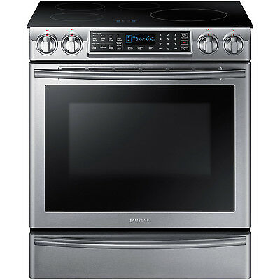 "Samsung Stainless Steel 30"" Electric Induction Slide In Range NE58K9560WS"