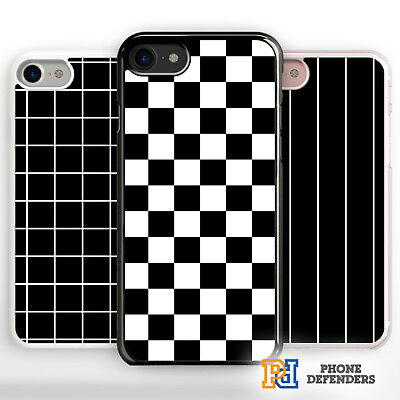FASHION GRID CHECK GEOMETRIC CUTE TUMBLR LINE PATTERN Phone Case for iPhone 8 7