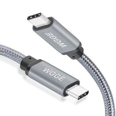WGGE METAL USB C 3.1 Type-C to USB C 3.1 Type-C Cable (5GB/s) 10 feet