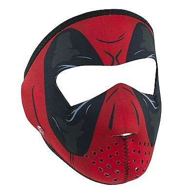 Small Red Dawn Super Hero Costume Child Size Reversable Black Neoprene Face Mask (Red Dawn Costume)