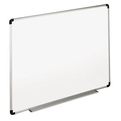 Universal Dry Erase Board Melamine 36 X 24 White Blackgray Aluminumplastic