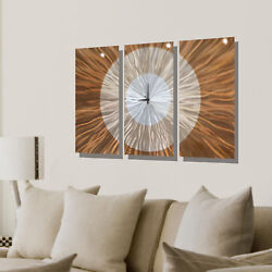 Statements2000 Large Metal Wall Clock Art Panels Modern Gold Decor by Jon Allen