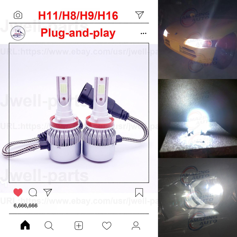 Car Parts - 2020 NEW H11 H8 H9 LED Headlights Bulbs Kit Headlamp Lamp 50W 4500LM 6000K White
