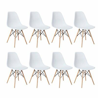 Set of 8 Dining Chair Mid Century Modern DSW Chair Shell Lounge Plastic Side Dining Room Set Sofa